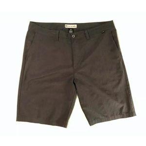 Travis Mathew Dark Grey Flat Front Shorts 38